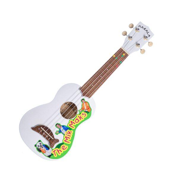 The MIk Maks wooden dolphin ukulele