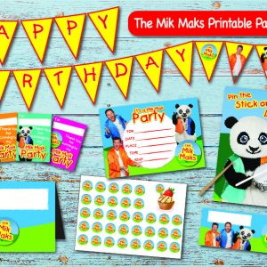 Mik Mak birthday party printable display