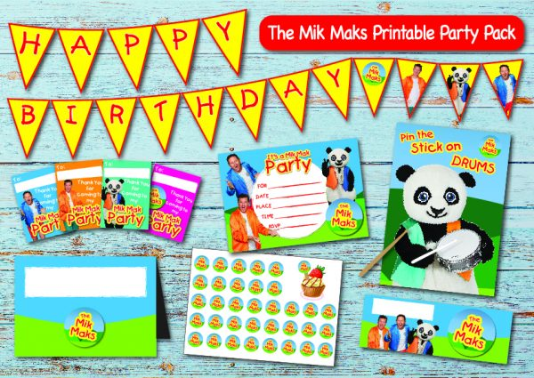 Mik Mak birthday party printable display